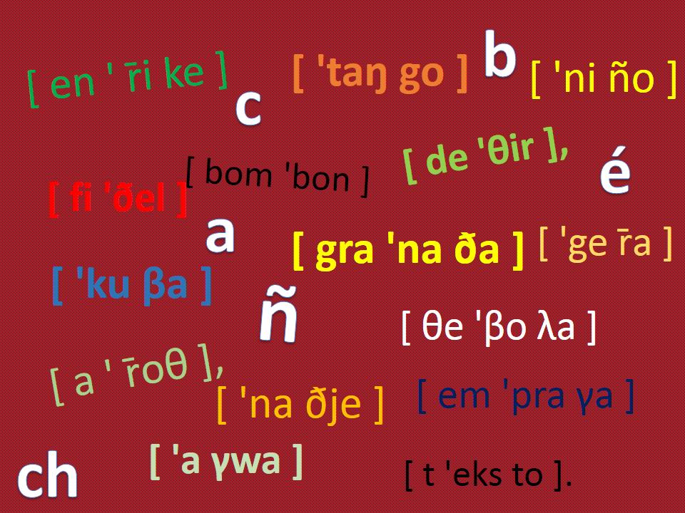 Výslovnost ve španělštině