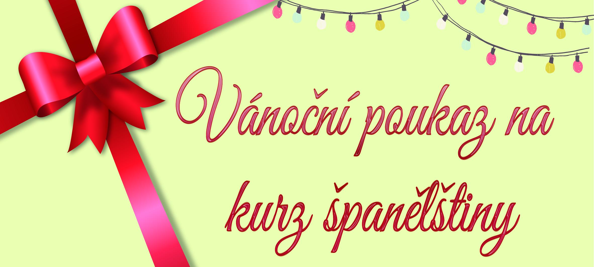 Vánoční poukaz na kurz španělštiny